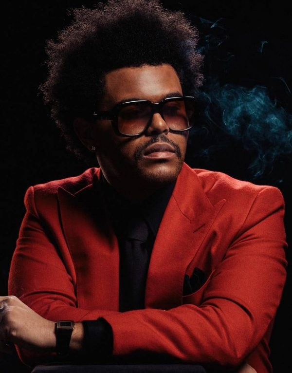 The Weeknd In Blinding Light Abel Makkonen Red Wool Blend Coat