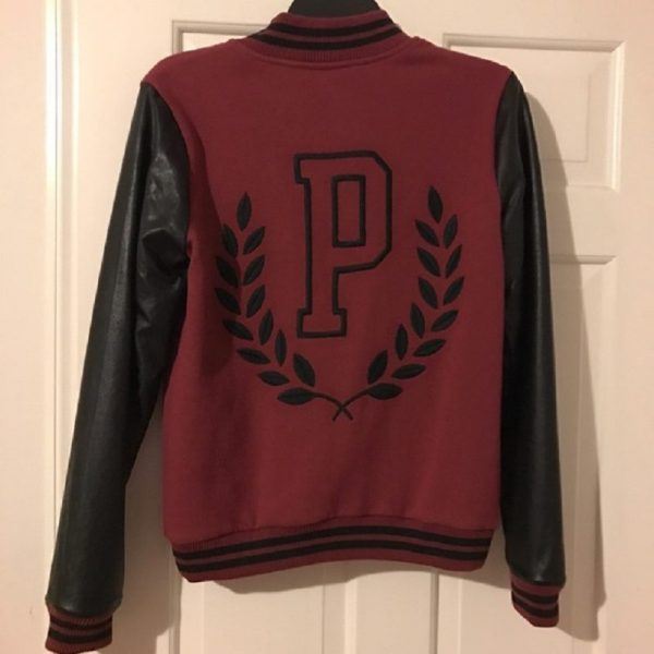Victoria's Secret Pink Burgundy Bomber Jackets