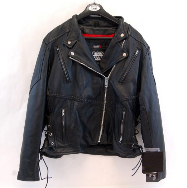 Women's Biker Highway One Black Motorcycle Leather Jacket