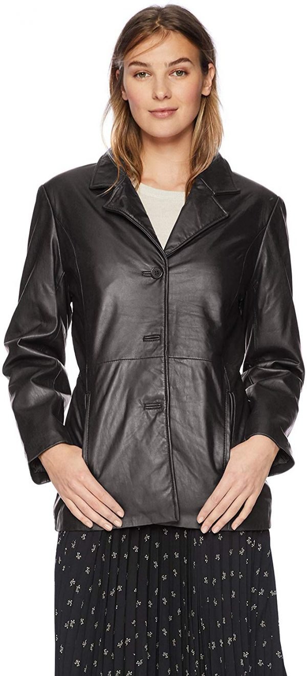 Women's Leather Button Front Hipster