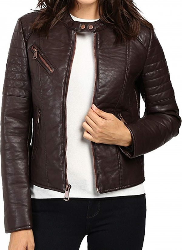 Womens Marc New York Andrew Vivian Leather Jacket