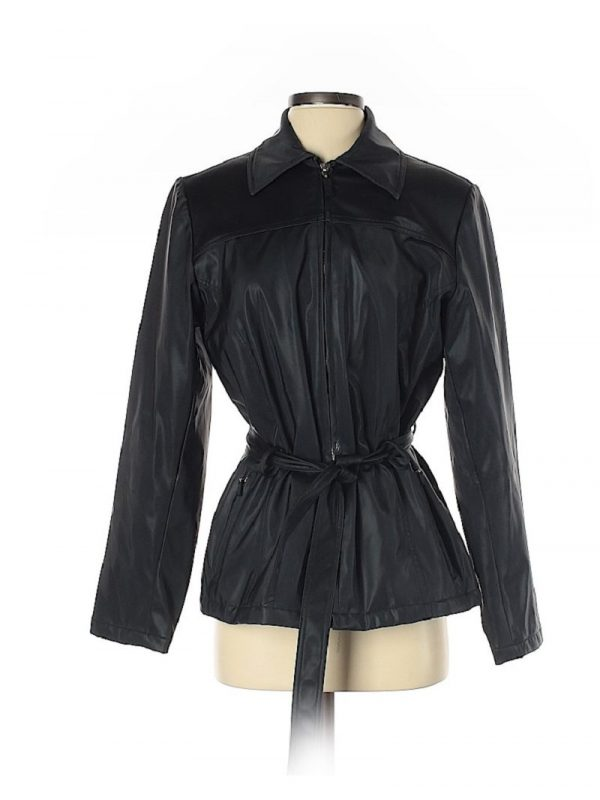 Womens Outbrook Black Leather Jacket