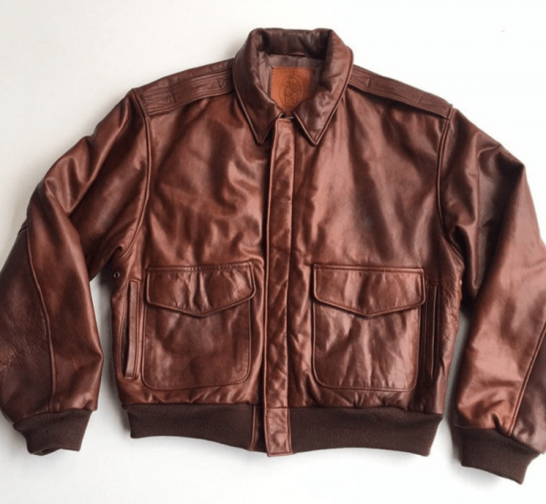 Golden Bear Brown Leather Jacket