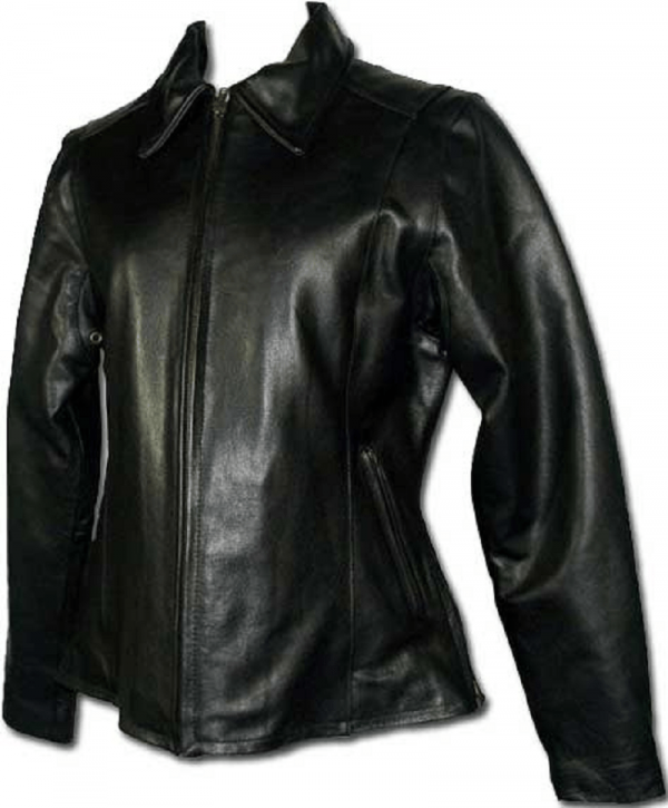 Ladies Buffalo Motorcycle Leather Jacket