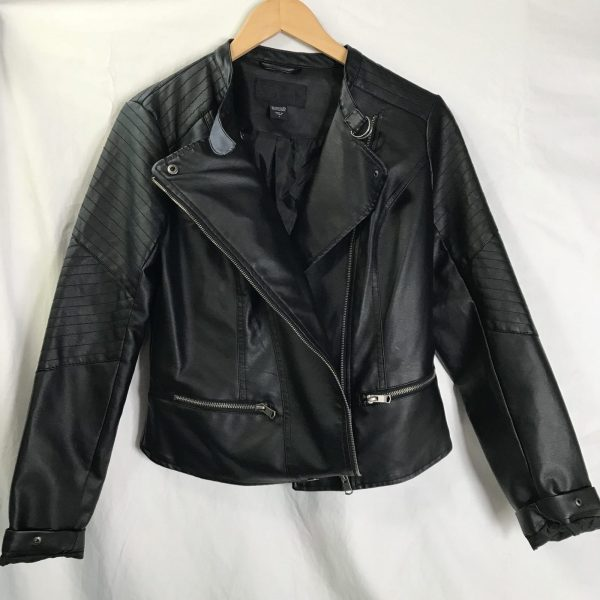 Mens Metaphor Black Leather Jacket