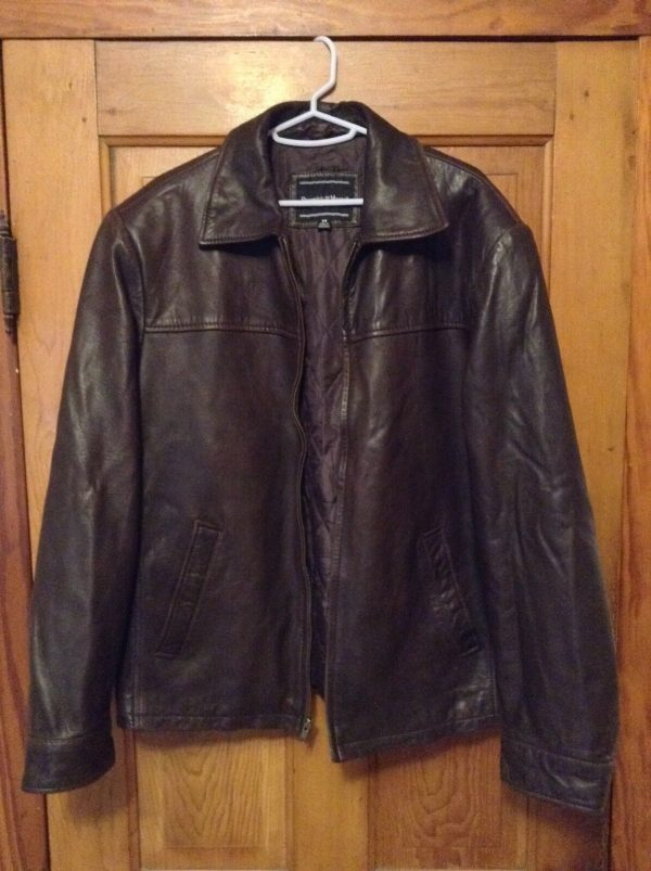 Mens Preswick & Moore Brown Leather Jacket