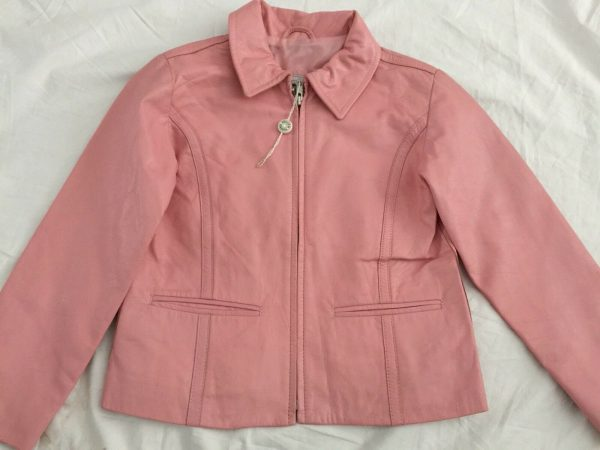 New Kids Softs Pink Leather Jacket