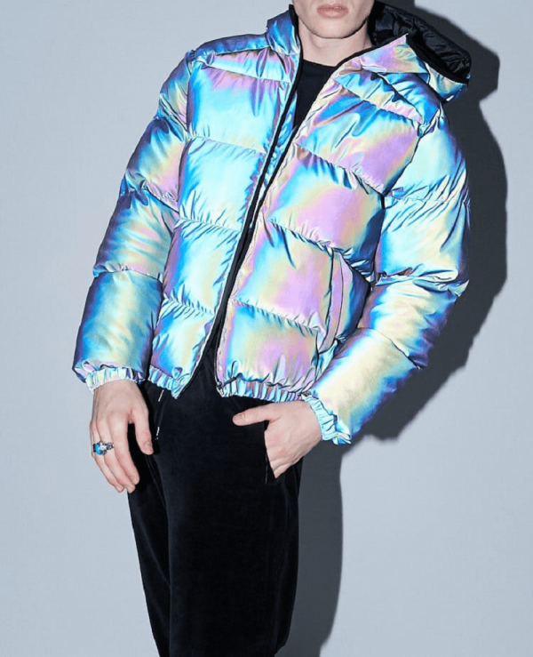Reflective Puffer Holographic Jacket
