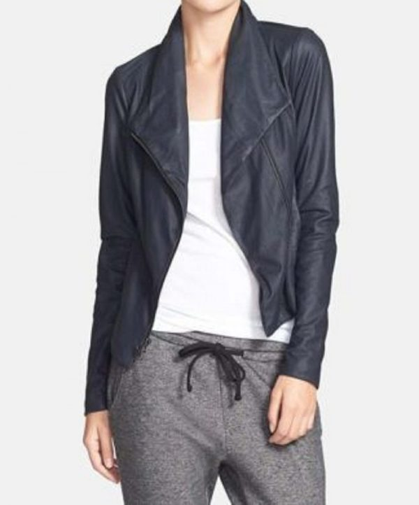 Vince Paper Scuba Leather Jacket
