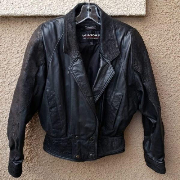 Vintage 80's Wilsons Biker Leather Jacket