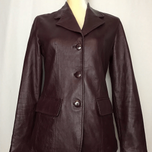 Womens Rem Garson Red Leather Jacket Coat