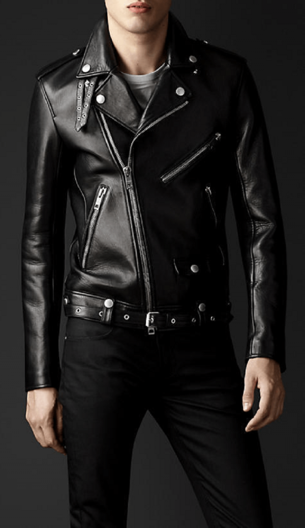 Burberry Leather Jacket Mens