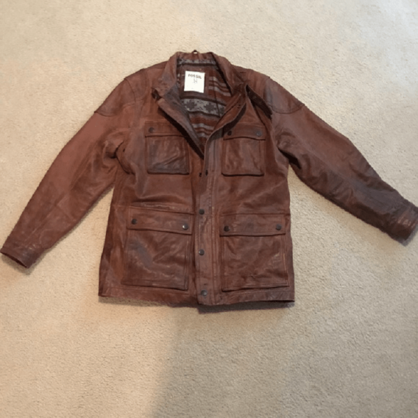 Fossil Leather Jacket Mens