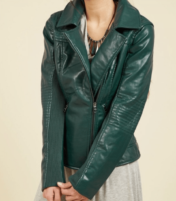 Hunter Green Leather Jacket