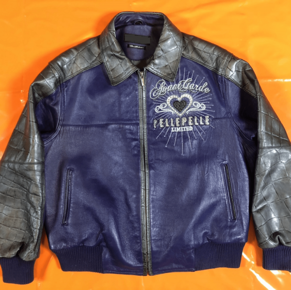Blue Pelle Pelle Leather Jacket