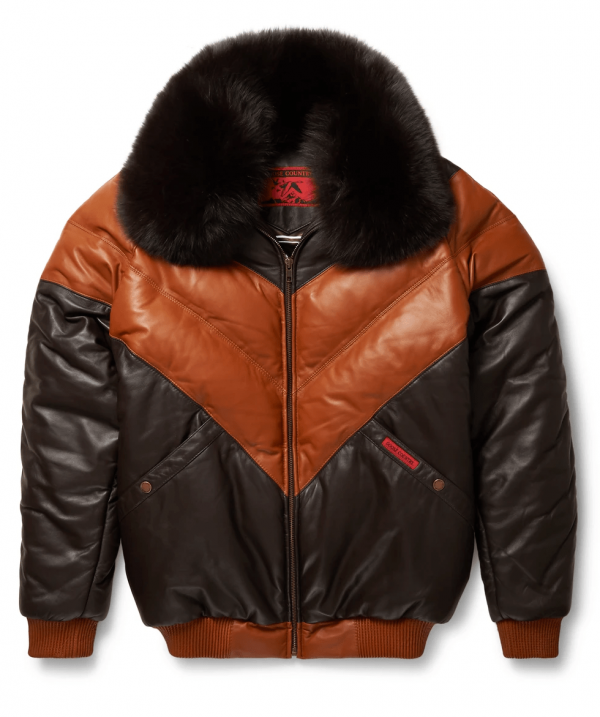 Goose Country Faux Leather Jacket