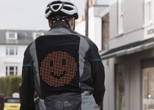 LED Light Display Emoji Bike Jacket