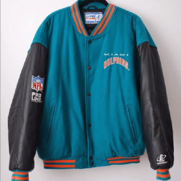 Miami Dolphin Leather Jacket