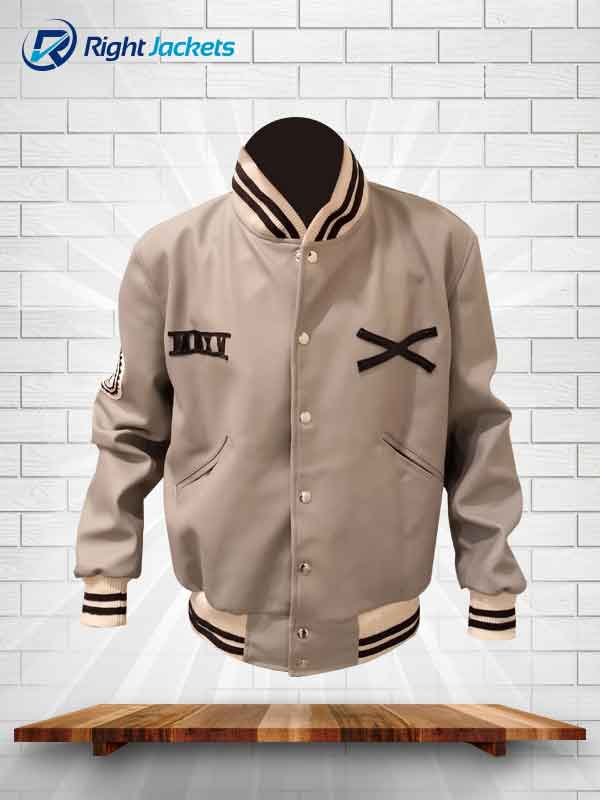 The Weeknd Roots XO White Varsity Tour Leather Jacket