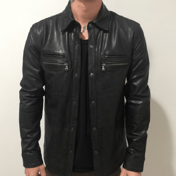 John Varvatos Lambskin Leather Jacket