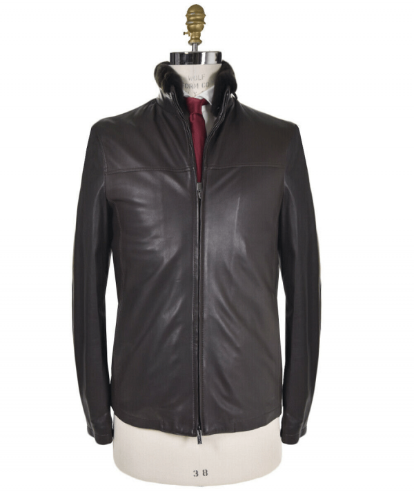Kiton Leather Jacket