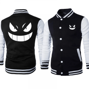 Mens Gengar Varsity Black Jacket