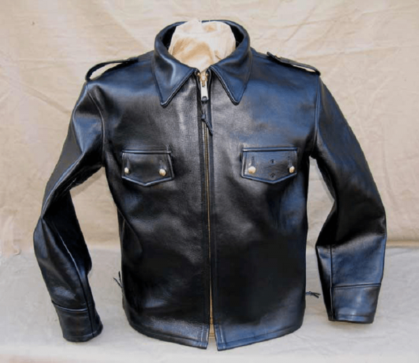 Police Motorcycle Leather Jacket