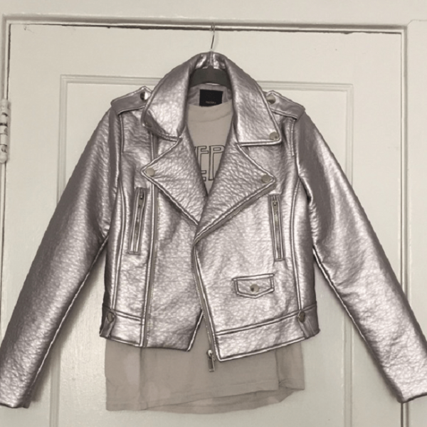 Silver Leather Jacket Forever 21