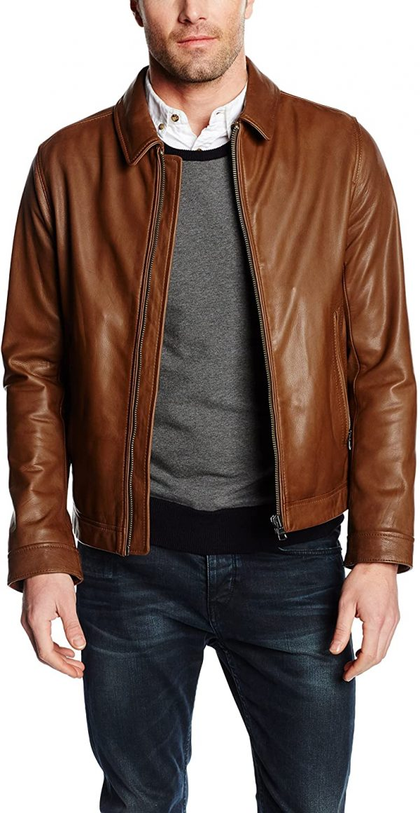 Tommy Hilfiger Brown Leather Jacket