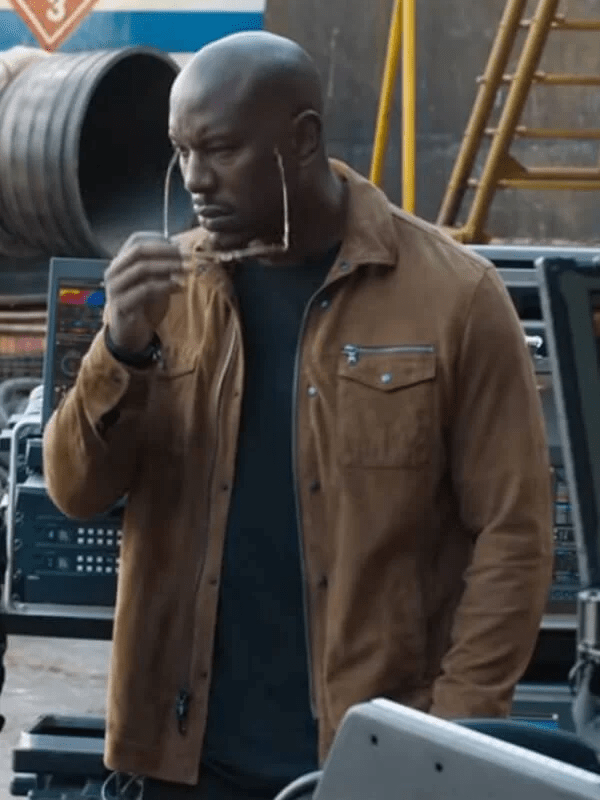 Tyrese Gibson F9 Brown Jacket