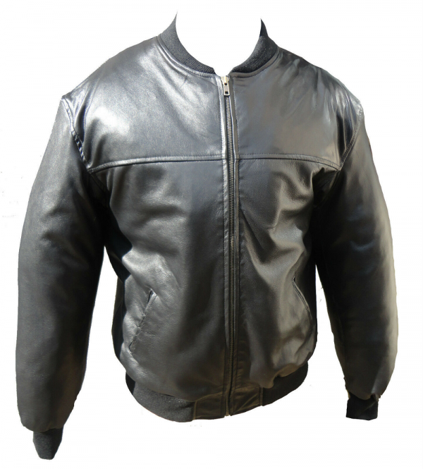 Black Combat Leather Jacket