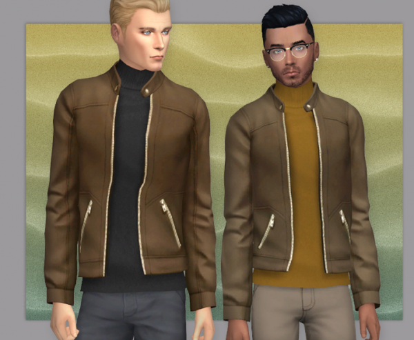 Sims 4 Leather Jacket Cc