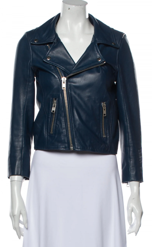 Ganni Biker Leather Jacket
