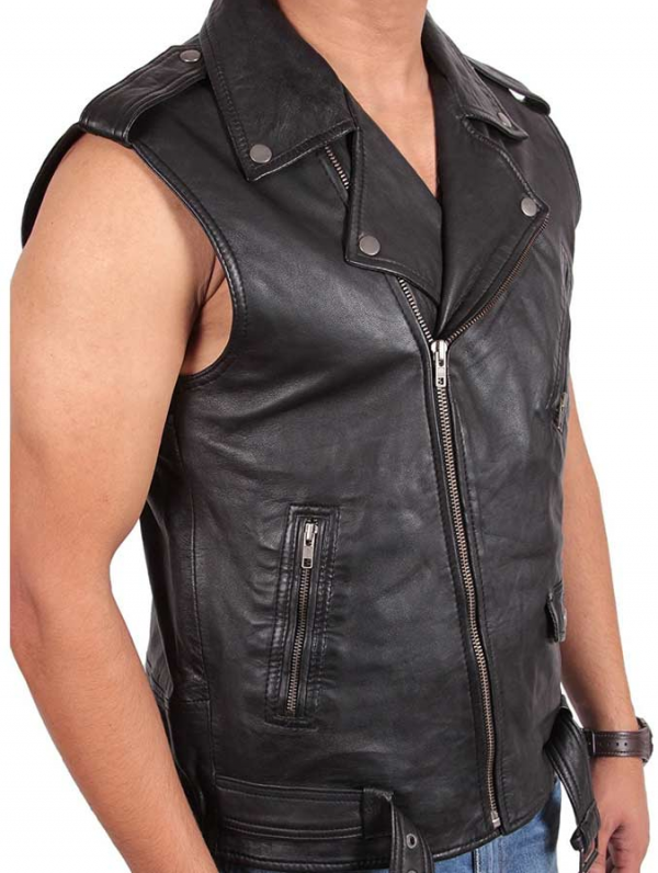 Classic Motorcycle Leather Vest