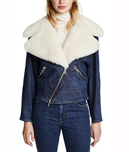 Perfectionists Ava Jalali Jacket With Fur Collar