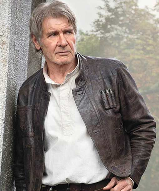 Star Wars Force Awakens Hans Solo Leather Jacket