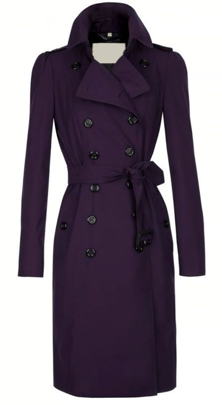 Dark Purple Trench Coat