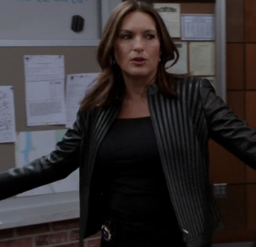 Mariska Hargitay Law & Order Special Victims Unit Black Jacket