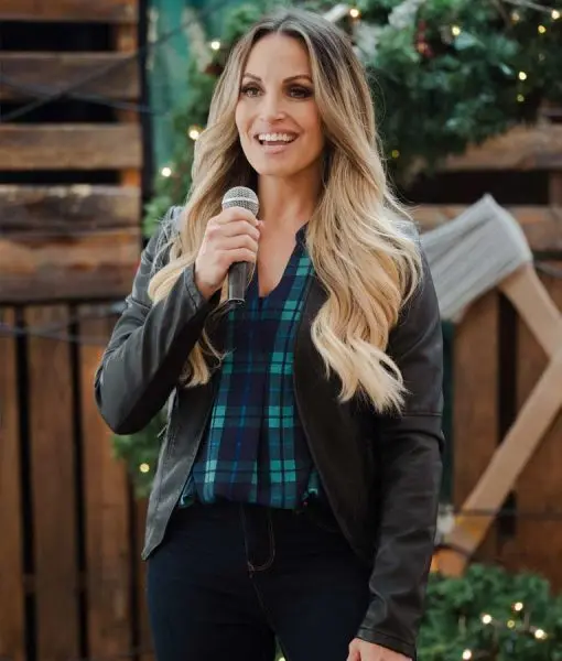 Christmas In The Rockies Marie Brown Leather Jacket