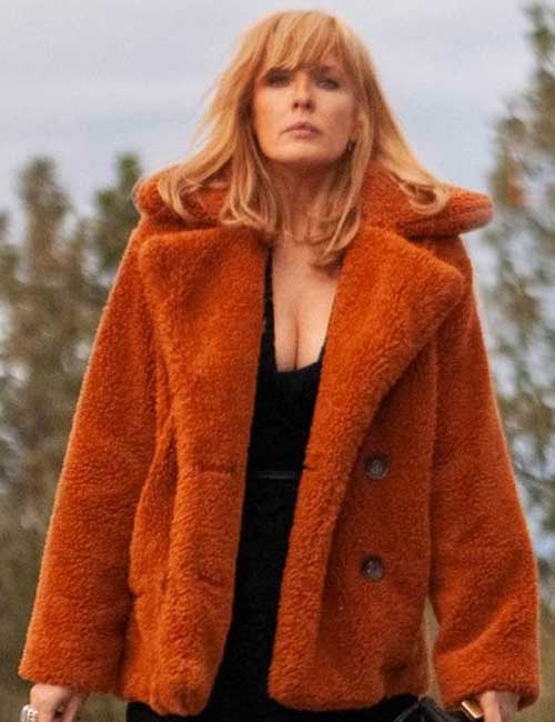 Kelly Reilly Yellowstone Shearling Coat