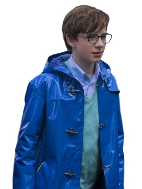 Louis Hynes A Series Of Unfortunate Events Hoodie Leather Coat